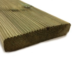 """Listone pavimentazione esterno in pino impregnato LOSA Legnami - 1.9x9.5x240 cm - classe 4 """"certificato KOMO"""" - confezione 5pz."""