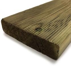 """Listone pavimentazione esterno in pino impregnato LOSA LEGNAMI - 2.8x11.5x360 cm - classe 4 """"certificato KOMO"""" - confezione 5pz."""