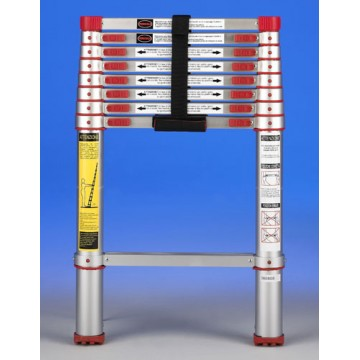 """Scala Telescopica Ultracompatta in Alluminio 9 Pioli """"Xtend light"""" - SVELT"""