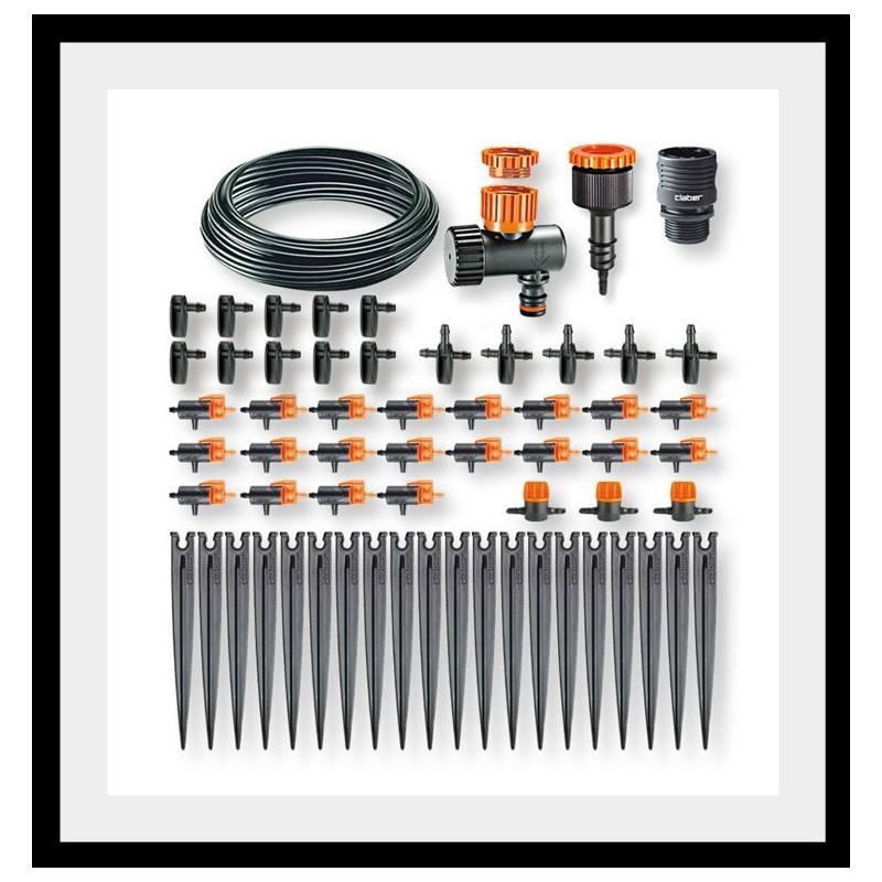 kit per irrigazione a goccia di 20 vasi drip 20 claber