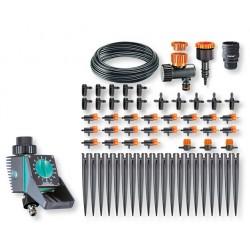 Kit per irrigazione a goccia di 20 vasi + Timer Aquauno Logica Balcony® 90766 - CLABER