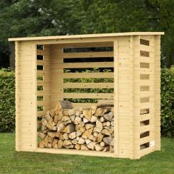Legnaia da giardino in legno Legnaia in Abete grezzo non trattato cm 198x108x203 h. - GARTEN PRO 991045