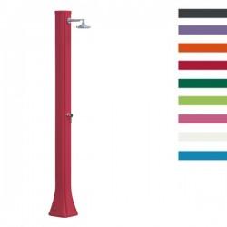 """Doccia Solare in Polietilene """"Big Happy Five"""" con lavapiedi - 40 Litri - Disponibile in 9 colori - ARKEMA F 620"""