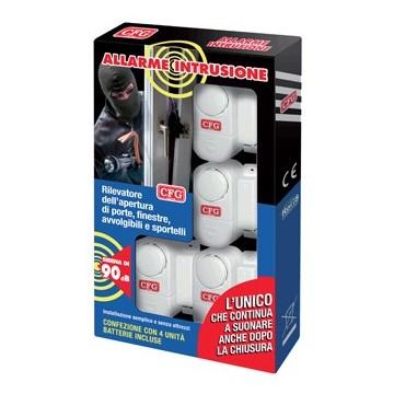 Allarme Anti Intrusioni senza Fili Confezione con 4 Unità- LuceQuadra H00160