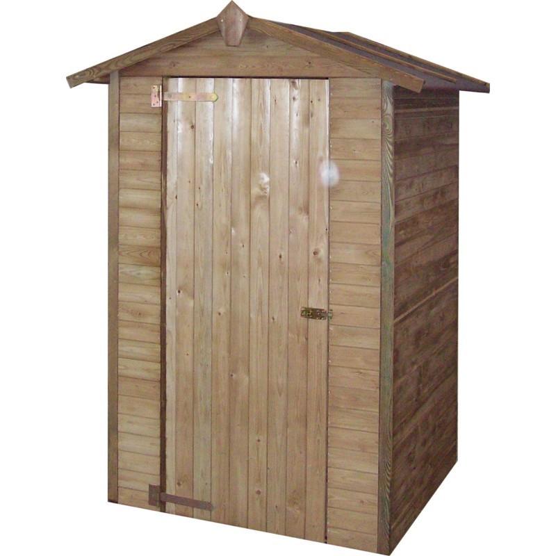 Armadio da giardino in legno 146x128x210 h pircher for Armadio legno giardino