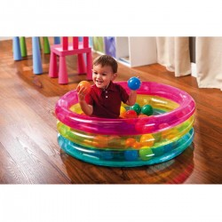 PISCINA BABY 3 ANELLI C/PALLIN COLORATE 86X25