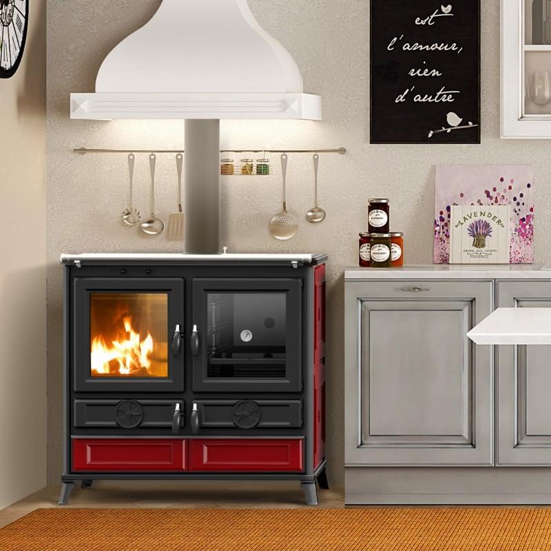Cucina a Legna VIOLA 10 kW con forno - THERMOROSSI - BORDEAUX