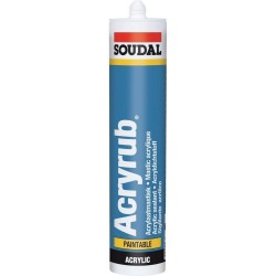 Sigillante plasto-elastico monocomponente in dispersione acrilica - SOUDAL ACRYRUB - Bianco - 310 ml - 102600