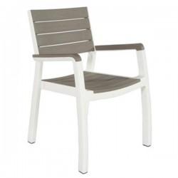 Sedie con braccioli Harmony KETER color graffite/bianco