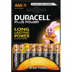 Batterie DURACELL PLUS POWER AAA 8 PZ