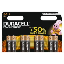 Confezione Batterie DURACELL PLUS POWER AAA 8 PZ