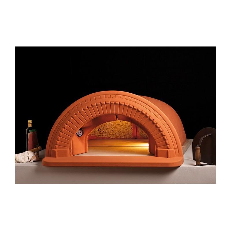 Forno a legna spazio 90 in refrattario con cornice alfa refrattari 16 pizze in 15 minuti - Forno a legna refrattario prezzo ...