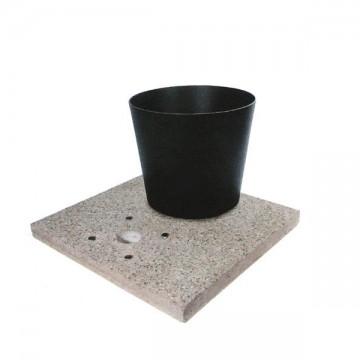 Base in graniglia di cemento H. 5 x L. 40 x P. 40 cm - BEL FER 42/BSE/2