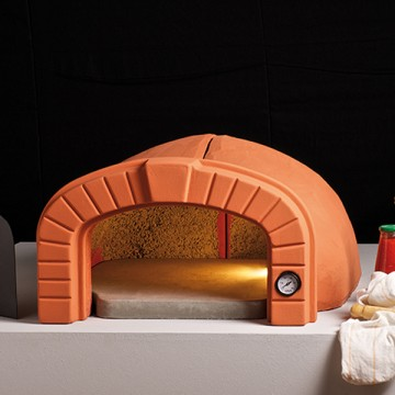 Forno a legna punto 60 in refrattario con cornice alfa refrattari 12 pizze in 15 minuti - Forni per pizza a legna per casa ...