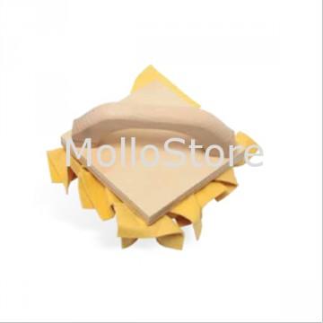 Tampone GAMMA TAMP15 15x15 cm in Pelle sintetica Impugnatura in legno
