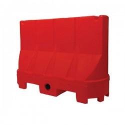Barriera stradale New Jersey Plastic 100 cm x 40 cm H 70 cm Rosso impilabile - Tekcnoplast NJ70/1I
