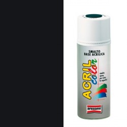 Smalto Acrilico Spray 400 ml AREXONS - NERO LUCIDO - RAL 9005 - 2934-3934