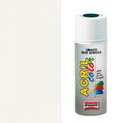 Smalto Acrilico Spray 400 ml AREXONS - BIANCO LUCIDO - RAL 9010 - 2931-3931