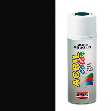 Smalto Acrilico Spray 400 ml AREXONS - NERO OPACO - 2961-3961
