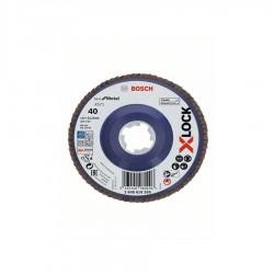 Disco lamellare Ø 115 mm Gr. 40 piano per Metallo attacco X-LOCK X571 - BOSCH - 2608619205