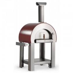 """Forno a legna """"5 MINUTI"""" in Acciaio Inox Con Base - Colore Rame - 6 pizze in 15 minuti - ALFA PIZZA"""