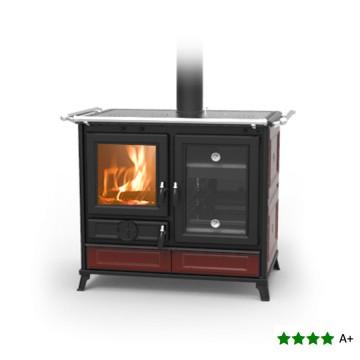 Cucina a legna MARGHERITA 10 kW con doppio forno - THERMOROSSI - BORDEAUX