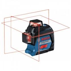 Livella a Laser Rosso 3 linee GLL 3-80 Professional con rotazione 360° e valigetta - BOSCH - 0601063S00