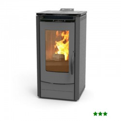 Stufa Pellet 1000 EASY 7.5 KW Grigio Antracite - THERMOROSSI - EASY1000