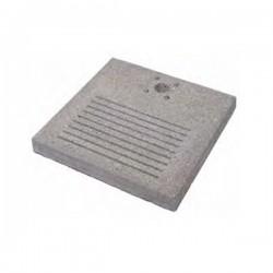 Base in cemento H. 4 x L. 40 x P. 40 cm Attacco Piccolo - BEL FER 42/BSE/8