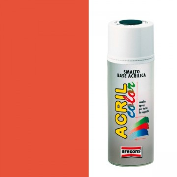Smalto Sintetico Spray 400ml AREXONS - ROSSO FLUORESCENTE - 2689