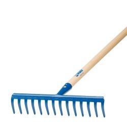 Rastrello 14 denti curvi con manico 130 cm AGEF