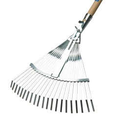 Rastrello scopa 21 denti regolabile manico 130 cm AGEF