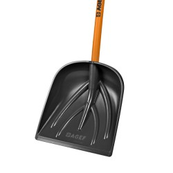 Pala multiuso in polipropilene elastomerizzato nero con manico cm 130 verniciato aranci - AGEF