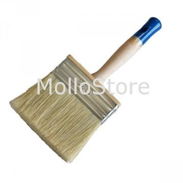 Pennello Plafone GAMMA XP220 extra professionale Setola bionda ghiera INOX 30x100 mm Manico in legno
