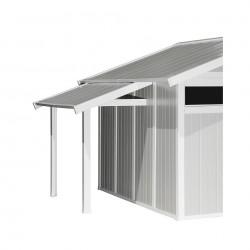 Tettoia per casette 2,22 m x 1,19 m x 1,41 m - GROSFILLEX Tettoia - Accessorio per Casette da giardino