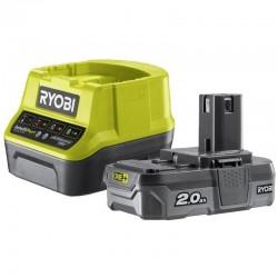 Kit batteria e caricabatteria 18V Ioni di Litio 2,0 Ah RYOBI - RC18120-120