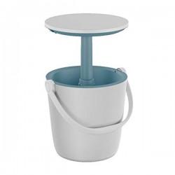 Tavolino Portatile GO BAR Bianco con Contenitore Termico - KETER