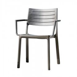 Sedia da esterno METALINE CHAIR effetto metallo - KETER