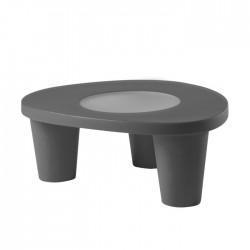 Tavolino LOW LITA 90x74x35h cm Grigio - SLIDE