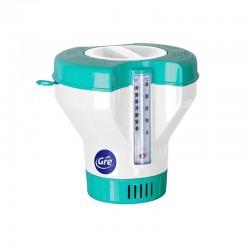 Dosatore per Pastiglie Galleggiante con Termometro- GRE 40070