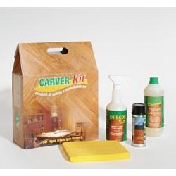 Kit Manutenzione per Pavimenti in Legno Oliato - Per Interni - CARVER