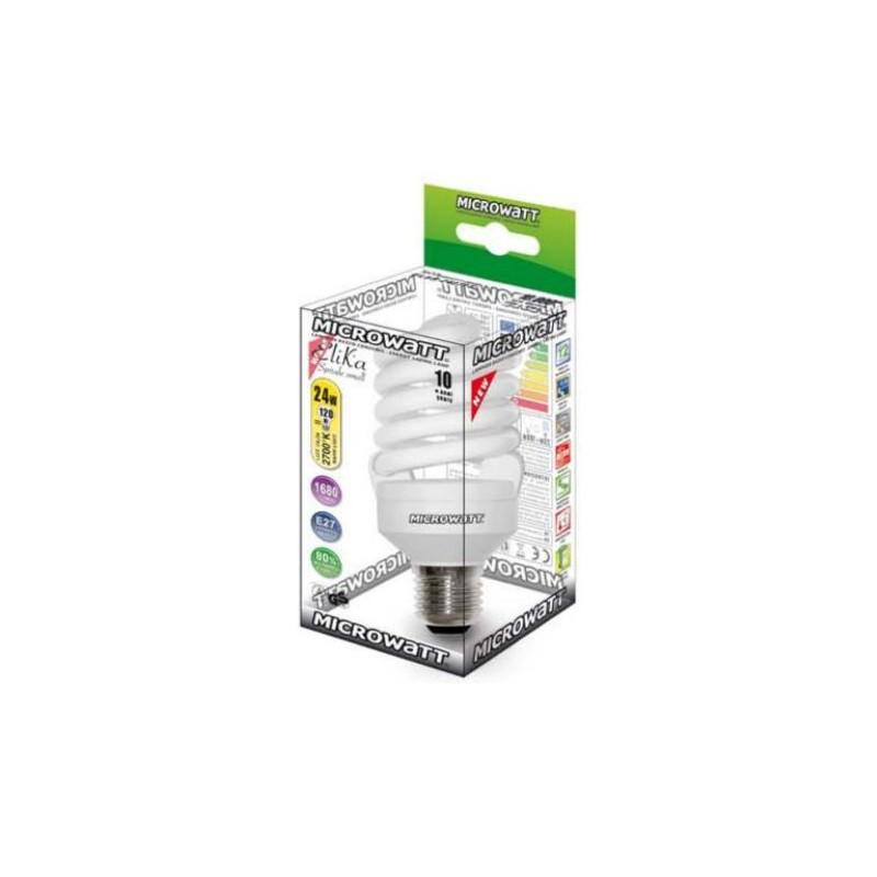 lampadina basso consumo : Lampadina Basso Consumo Elika SPIRALE Small ? 54,5 MICROWATT - 24 W ...