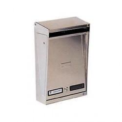 Cassetta Postale per Esterni Inox con tetto Parapioggia 25x9xh39 - SILMEC 10-012