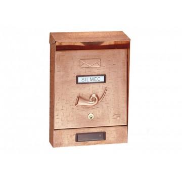 Cassetta Postale per Esterni in Rame con Parapioggia 220 x 325 x 75/110 - SILMEC 10-101