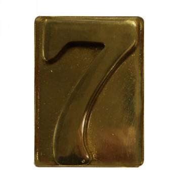 """Numero Civico in Ottone Lucido """"7"""" - ALUBOX"""