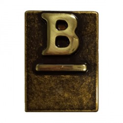 "Lettera Civica in Ottone Brunito ""B"" - ALUBOX"