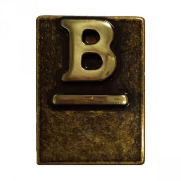 """Lettera Civica in Ottone Brunito """"B"""" - ALUBOX"""