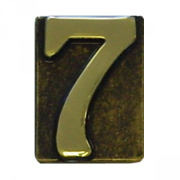 """Numero Civico in Ottone Brunito """"7"""" - ALUBOX"""