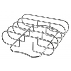 "Supporto Costine ""RIB RACK"" per Barbecue in Acciaio Inossidabile OUTDOORCHEF - 18.211.91"