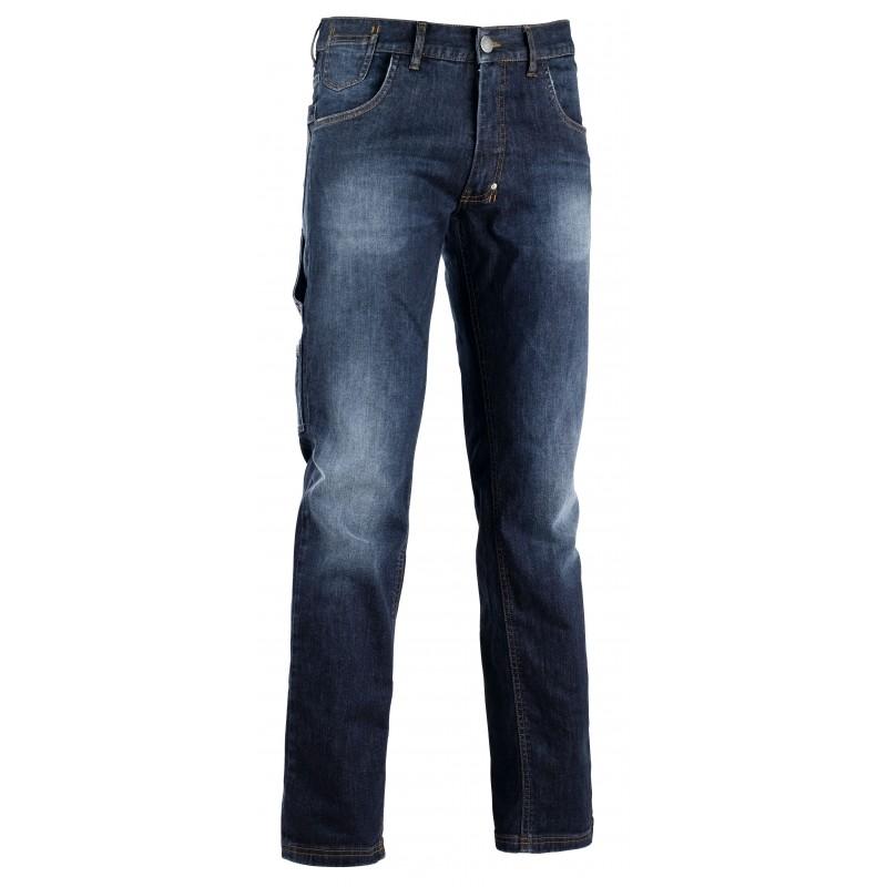 Pantalone jeans passante con portamartello diadora utility for Raumgestaltung jean grigo